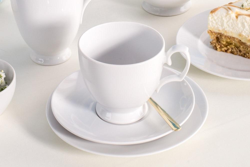 Serviciu cafea/ceai pentru 6 persoane din portelan MariaPaula Biala 18piese imagine 2021 insignis.ro