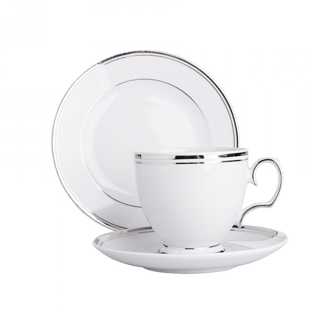 Serviciu cafea/ceai pentru 6 persoane din portelan MariaPaula PlatinumLine 18piese imagine 2021 insignis.ro