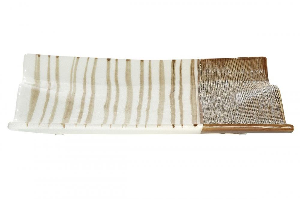 Platou decorativ din ceramica Verona L26cm imagine 2021 insignis.ro