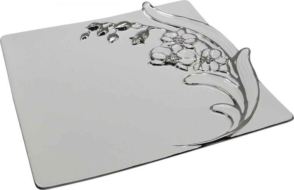 Platou decorativ din ceramica Orchidee L33cm imagine 2021 insignis.ro