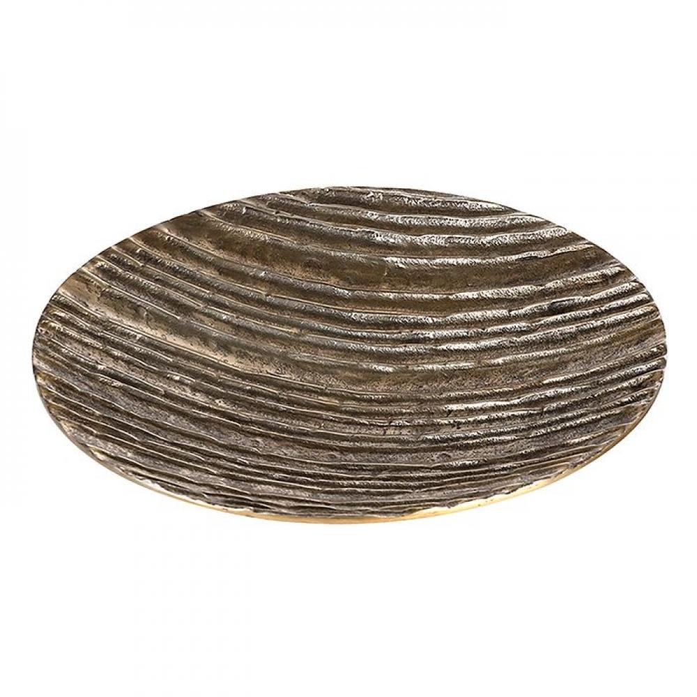 Bol decorativ rotund din aluminiu Vulcano D39cm auriu imagine 2021 insignis.ro