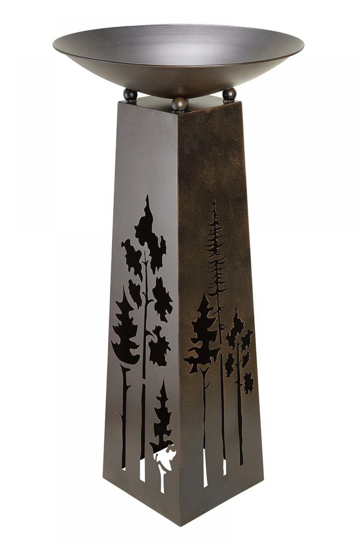Bol decorativ din metal cu suport Forest H117cm imagine 2021 insignis.ro