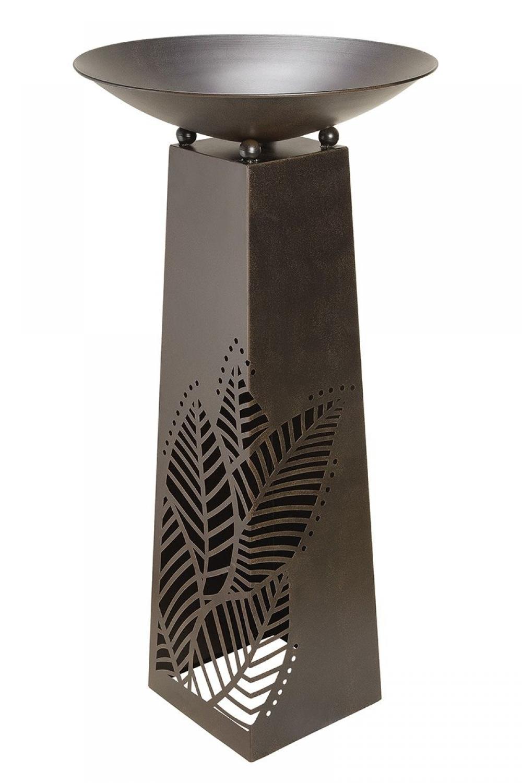 Bol decorativ din metal cu suport Leaves H117cm imagine 2021 insignis.ro