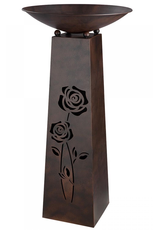 Bol decorativ din metal cu suport Roses H117cm imagine 2021 insignis.ro