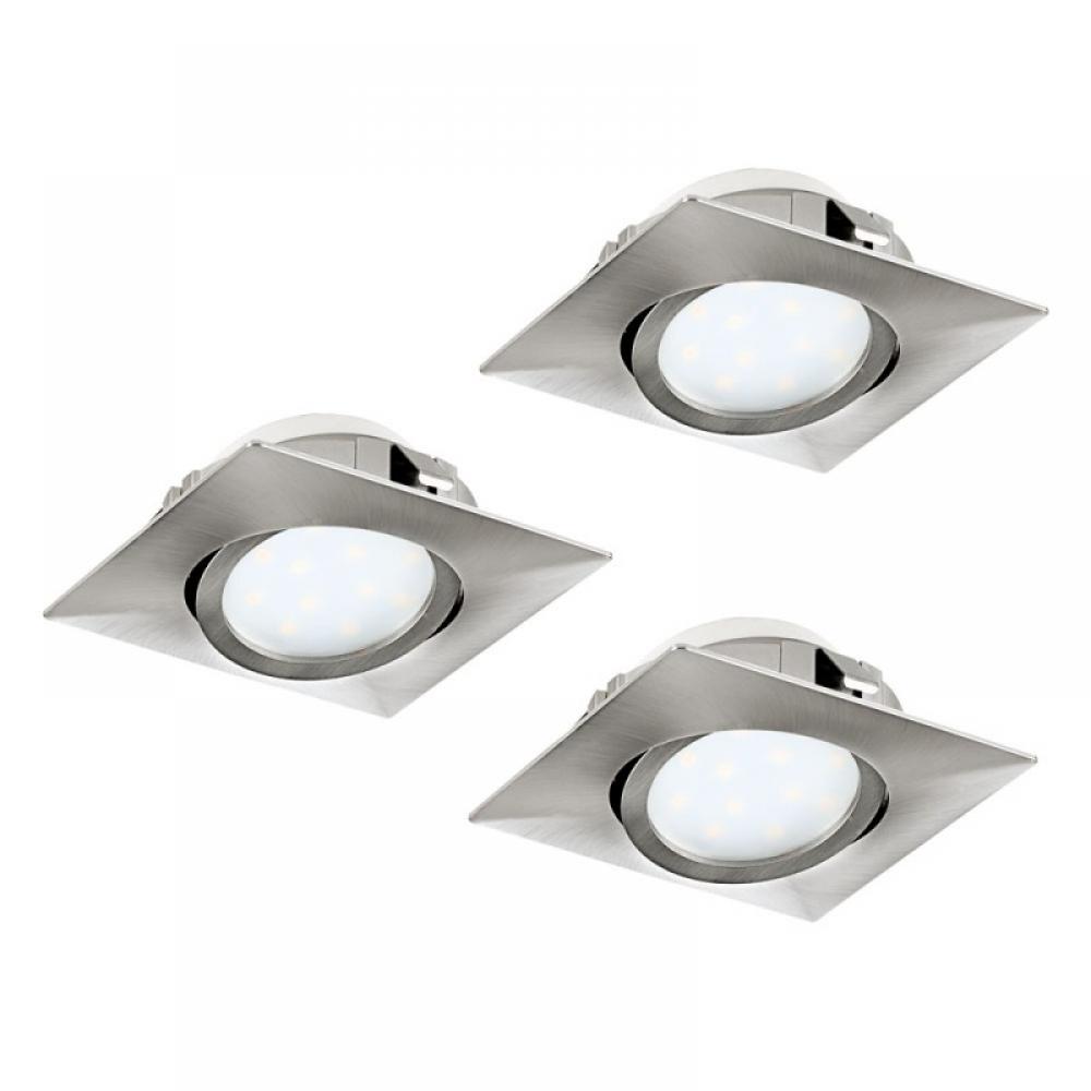 Set 3 spoturi incastrate LED 3X6W 1500lm 3000K L84mm imagine 2021 insignis.ro