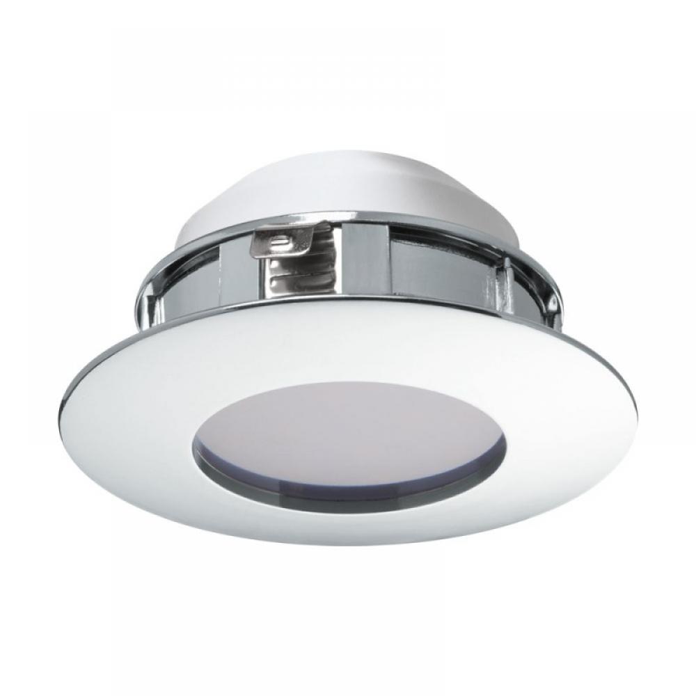 Spot incastrat baie LED Pineda 1X6W 500lm 3000K crom D78mm imagine 2021 insignis.ro