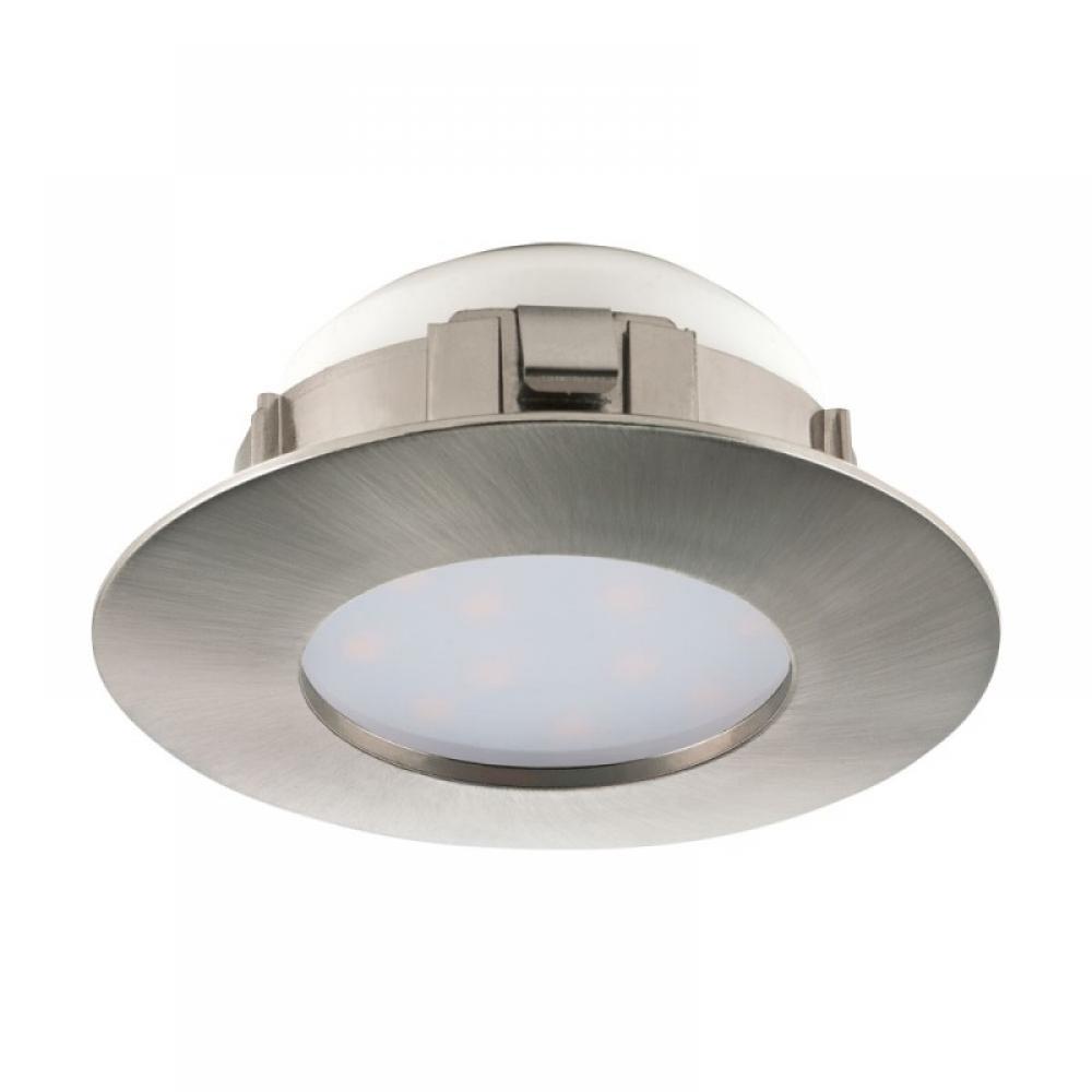 Spot incastrat baie LED Pineda 1X6W 500lm 3000K nichel D78mm imagine 2021 insignis.ro