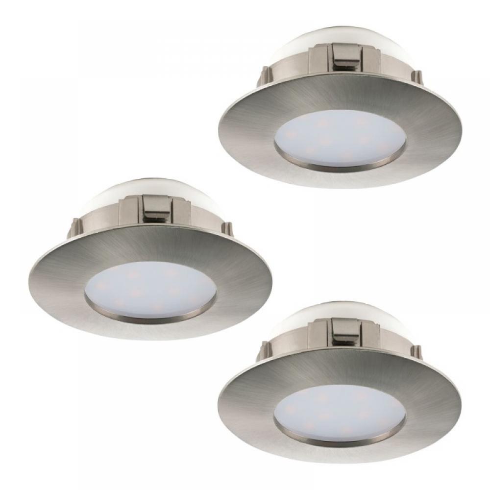 Set 3 spoturi incastrate LED Pineda 3X6W 1500lm 3000K nichel D78mm imagine 2021 insignis.ro