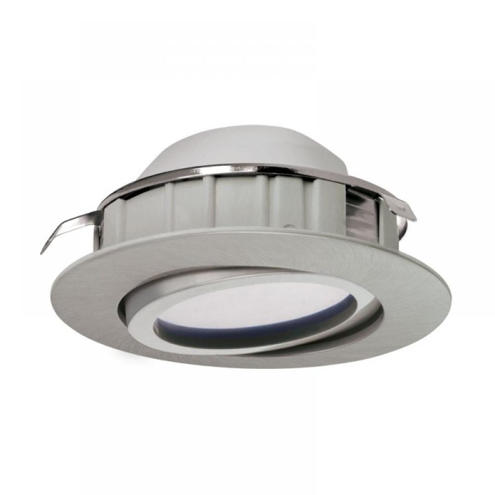 Spot incastrat LED dimmabil Pineda 6W 500lm 3000K nichel D84mm imagine 2021 insignis.ro
