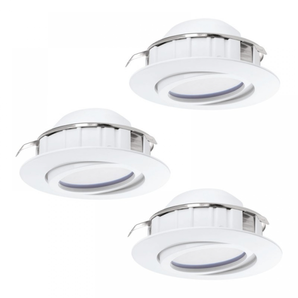 Set 3 spoturi incastrate dimmabile LED Pineda 3X6W 1500lm 3000K D84mm/alb D84mm imagine 2021 insignis.ro