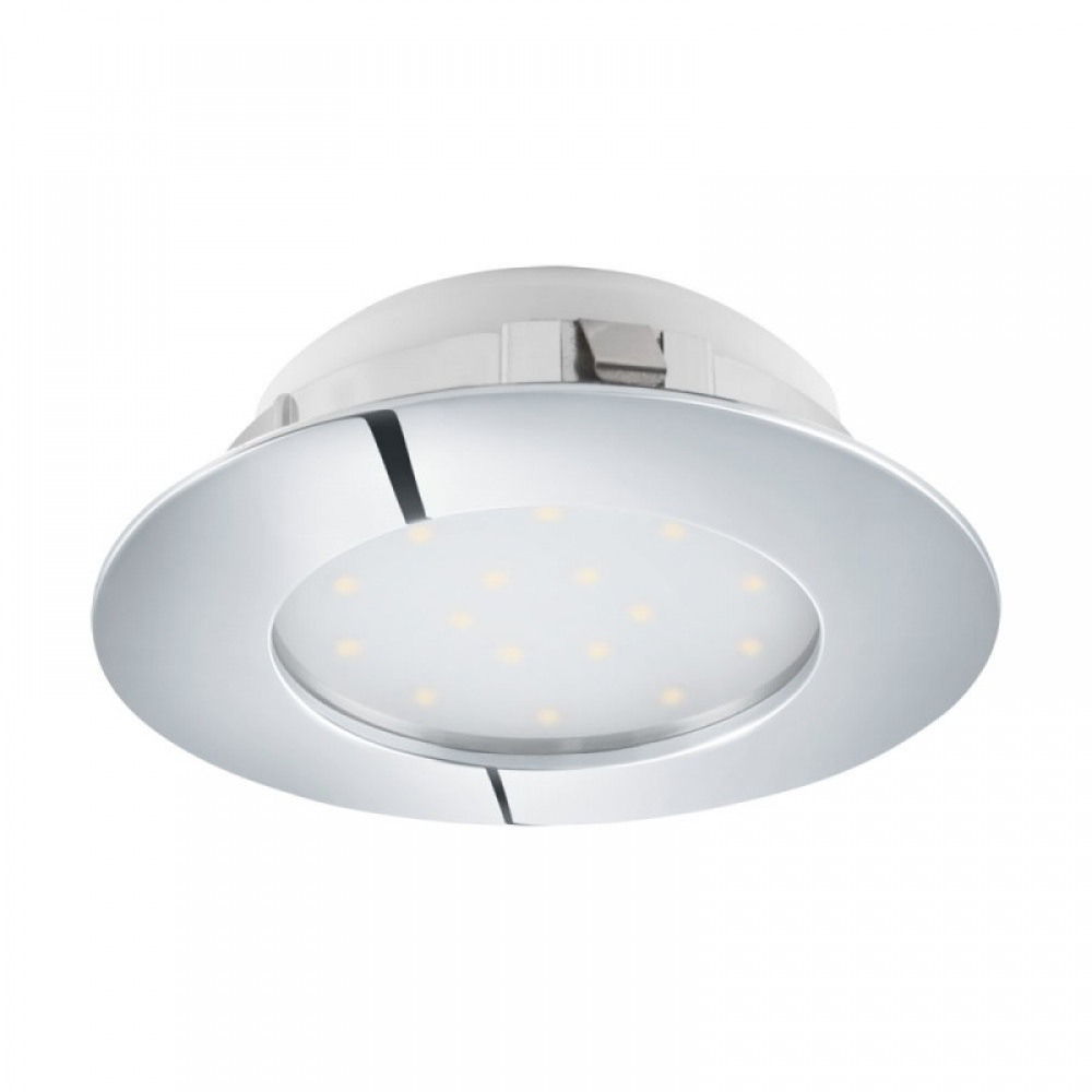 Spot incastrat baie LED Pineda 12W 1000lm 3000K crom D102mm imagine 2021 insignis.ro