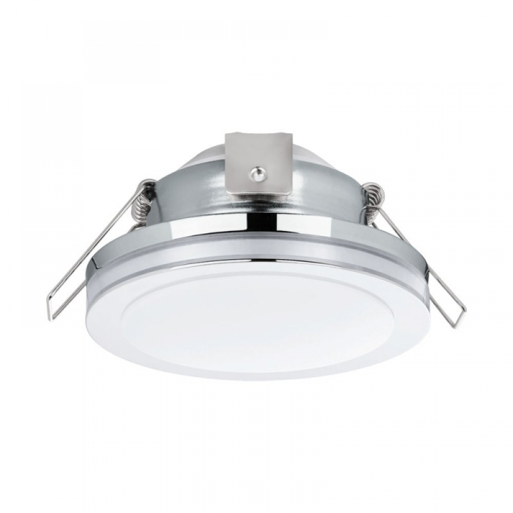 Spot incastrat baie LED Pineda D82mm 6W 500lm 3000K crom D82mm imagine 2021 insignis.ro
