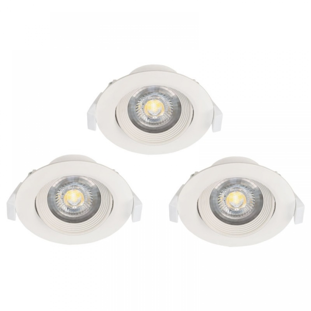 Set 3 spoturi incastrate LED Sartiano 3X5W 1410lm 3000K alb D90mm imagine 2021 insignis.ro