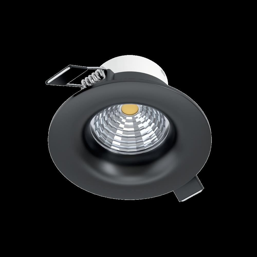 Spot LED incastrat Saliceto dimmabil D88mm 6W 380lm 2700K negru D88mm imagine 2021 insignis.ro