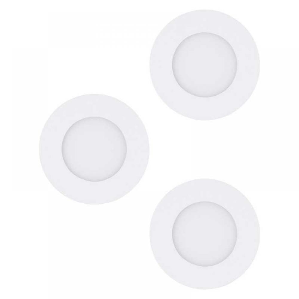 Set 3 spoturi incastrate LED Fueva D85mm 3X3W 1020lm 3000K alb D85mm imagine 2021 insignis.ro