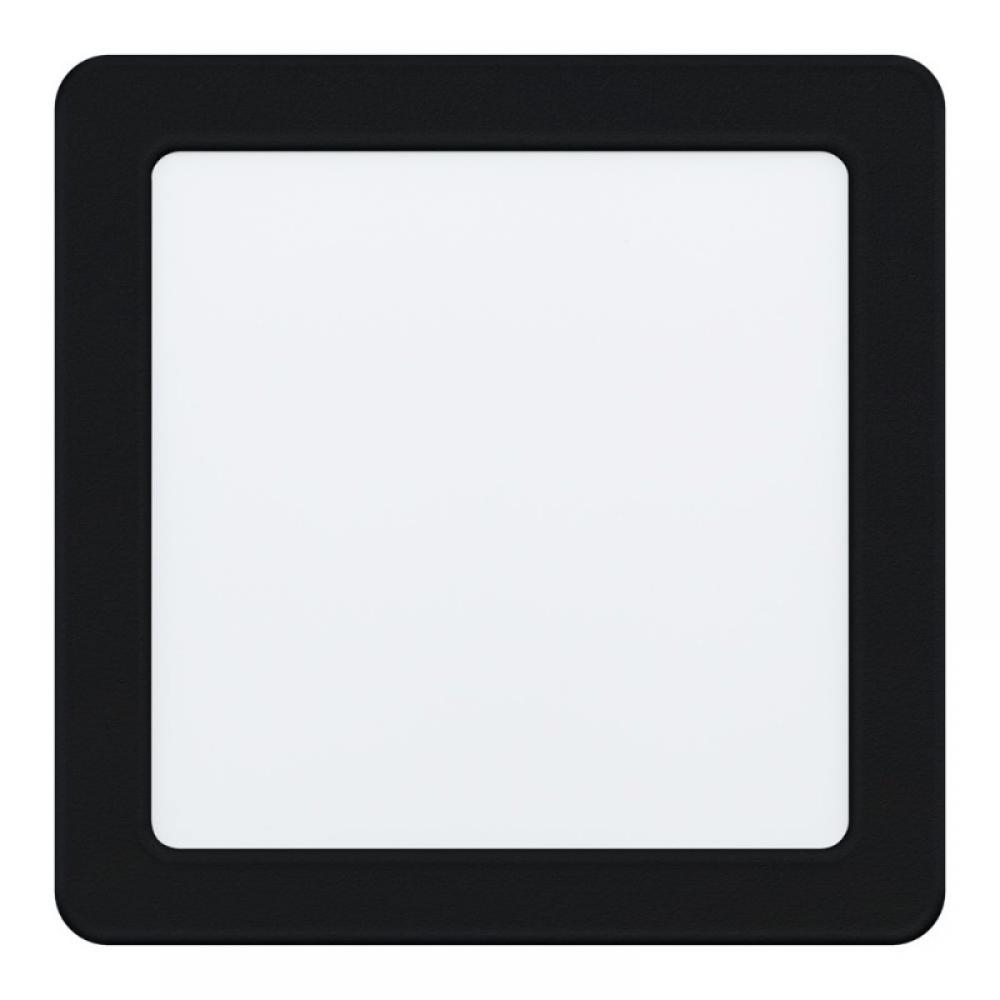 Spot incastrat LED patrat Fueva 10.5W 1350lm 4000K negru L166mm imagine 2021 insignis.ro