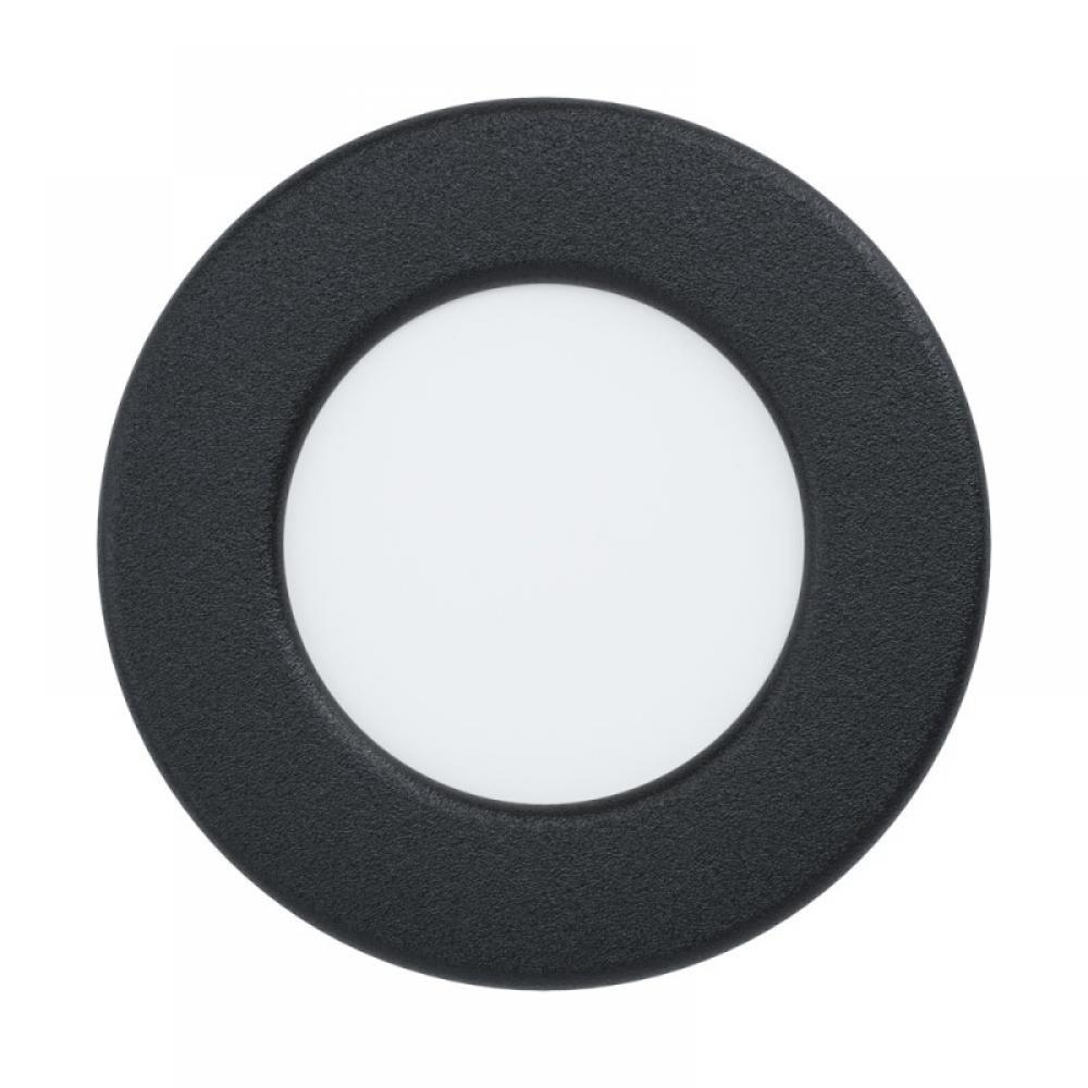 Spot incastrat baie LED Fueva 2.7W 300lm 3000K negru D86mm imagine 2021 insignis.ro