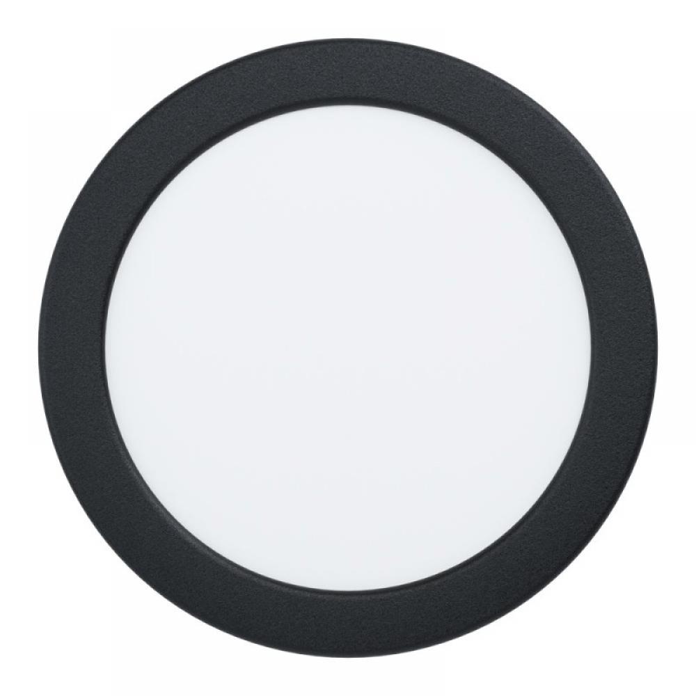 Spot incastrat baie LED Fueva 10.5W 1200lm 3000K negru D166mm imagine 2021 insignis.ro