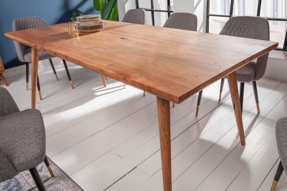 Masa din lemn masiv de salcam Mystic Living L160cm imagine 2021 insignis.ro