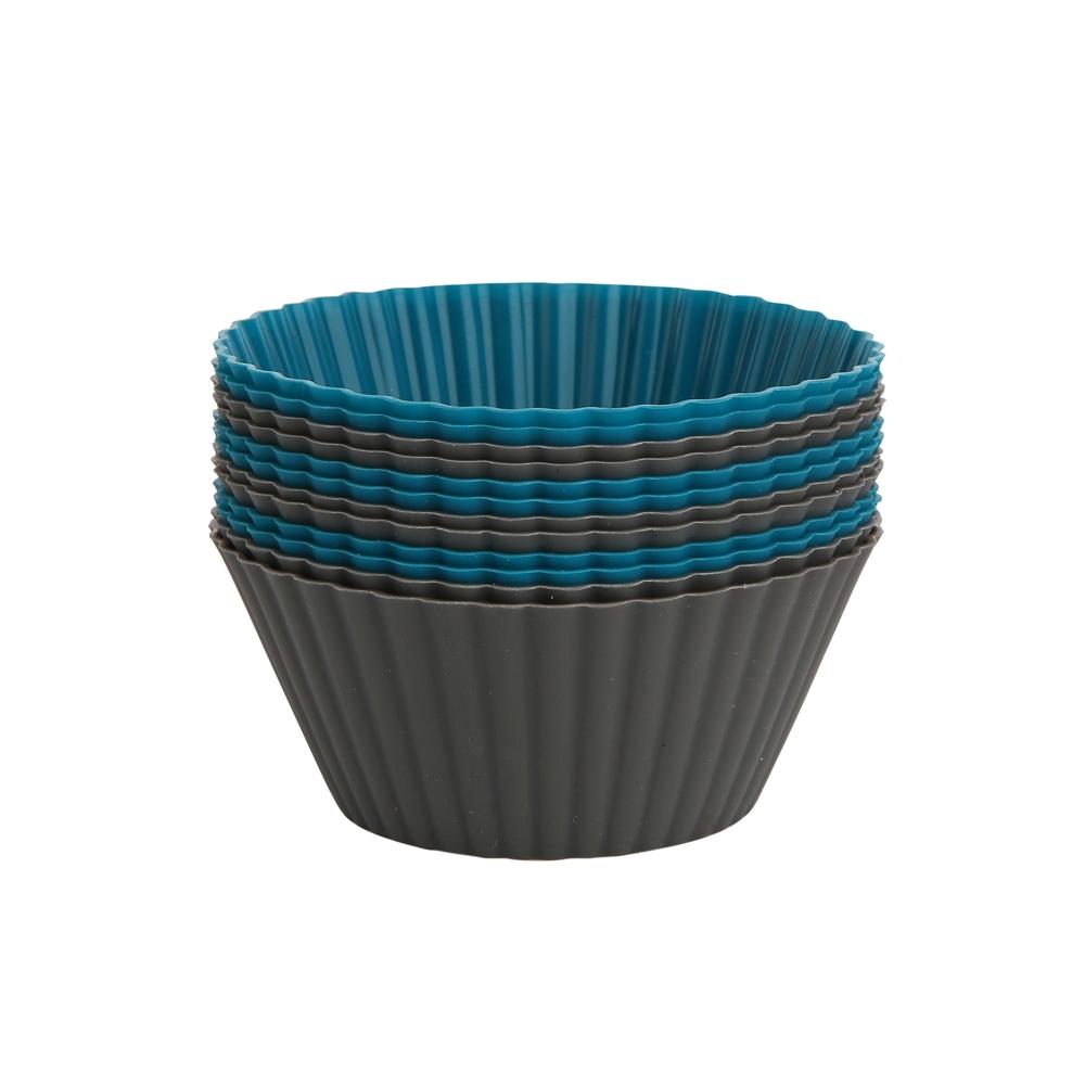 Set 6 forme din silicon pentru cupcake si briose Design imagine 2021 insignis.ro