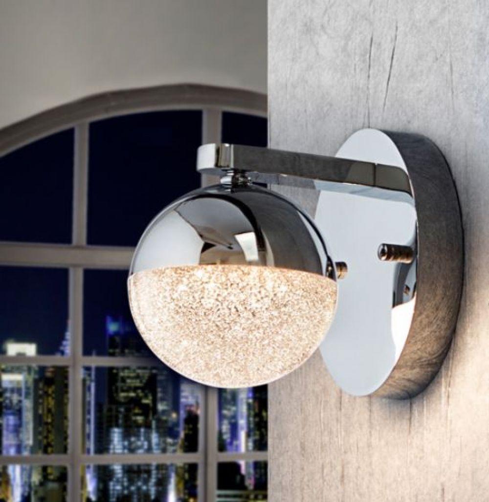 Aplica de perete LED moderna Sphere D12cm 4.8W imagine 2021 insignis.ro