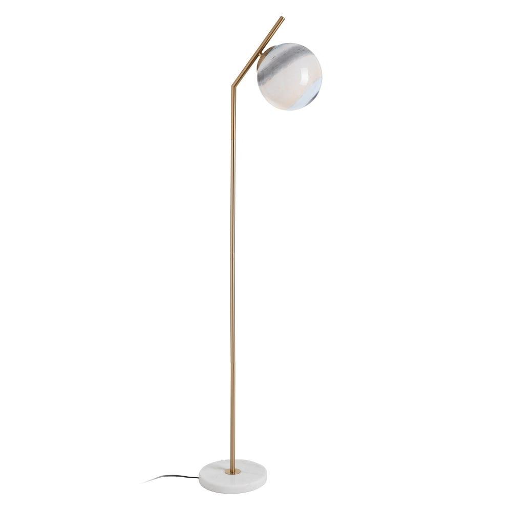 Lampa de podea Round Auriu 1xE27 D25cm imagine 2021 insignis.ro