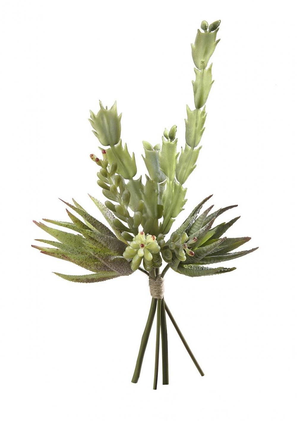 Buchet artificial decorativ Succulente H34cm imagine 2021 insignis.ro