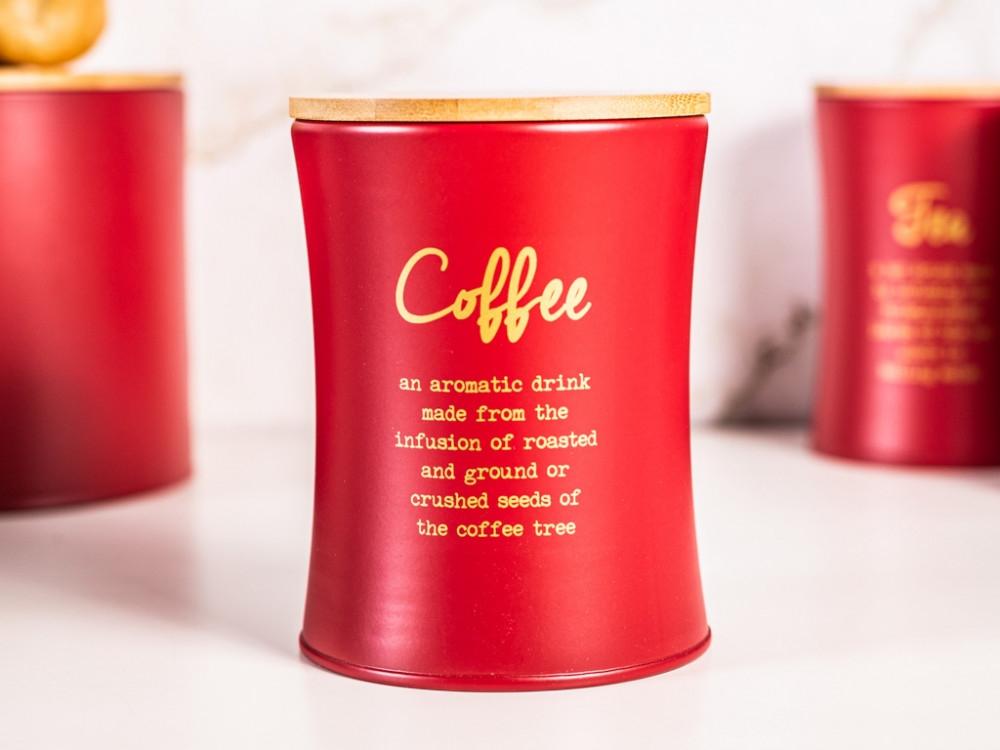 Cutie depozitare cafea cu capac din bambus Modern imagine 2021 insignis.ro