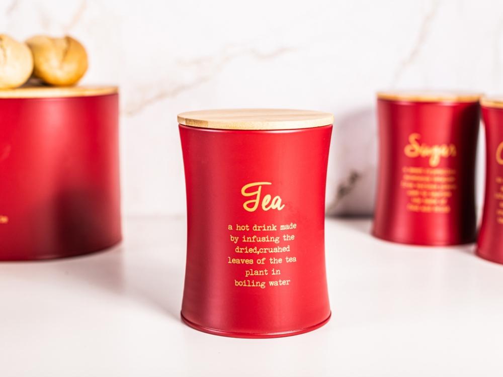 Cutie depozitare ceai cu capac din bambus Modern imagine 2021 insignis.ro