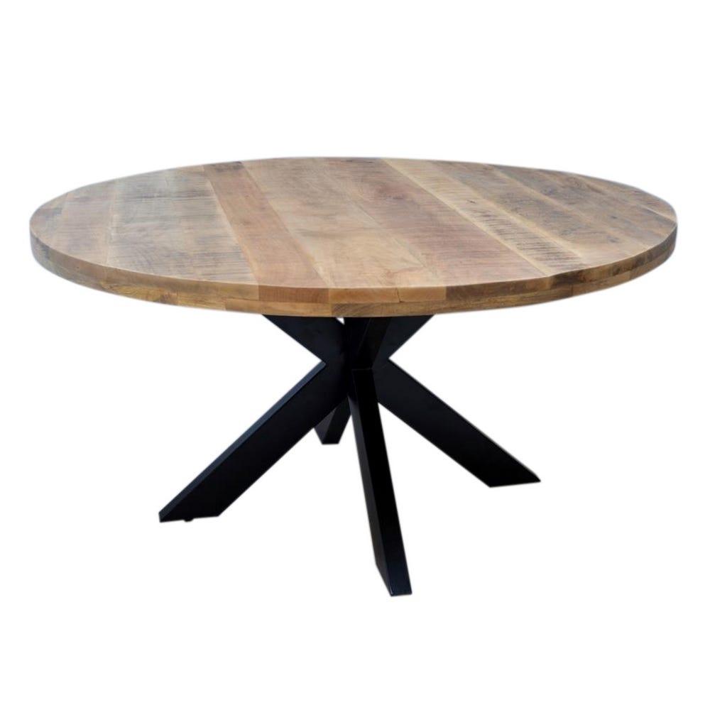 Masa rotunda cu blat din lemn de mango Tommy D150cm imagine 2021 insignis.ro