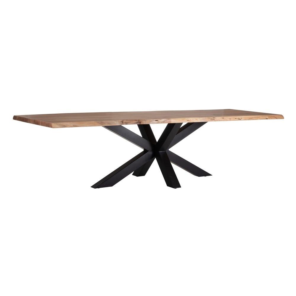 Masa dreptunghiulara cu blat din lemn de salcam Lewis L300cm imagine 2021 insignis.ro