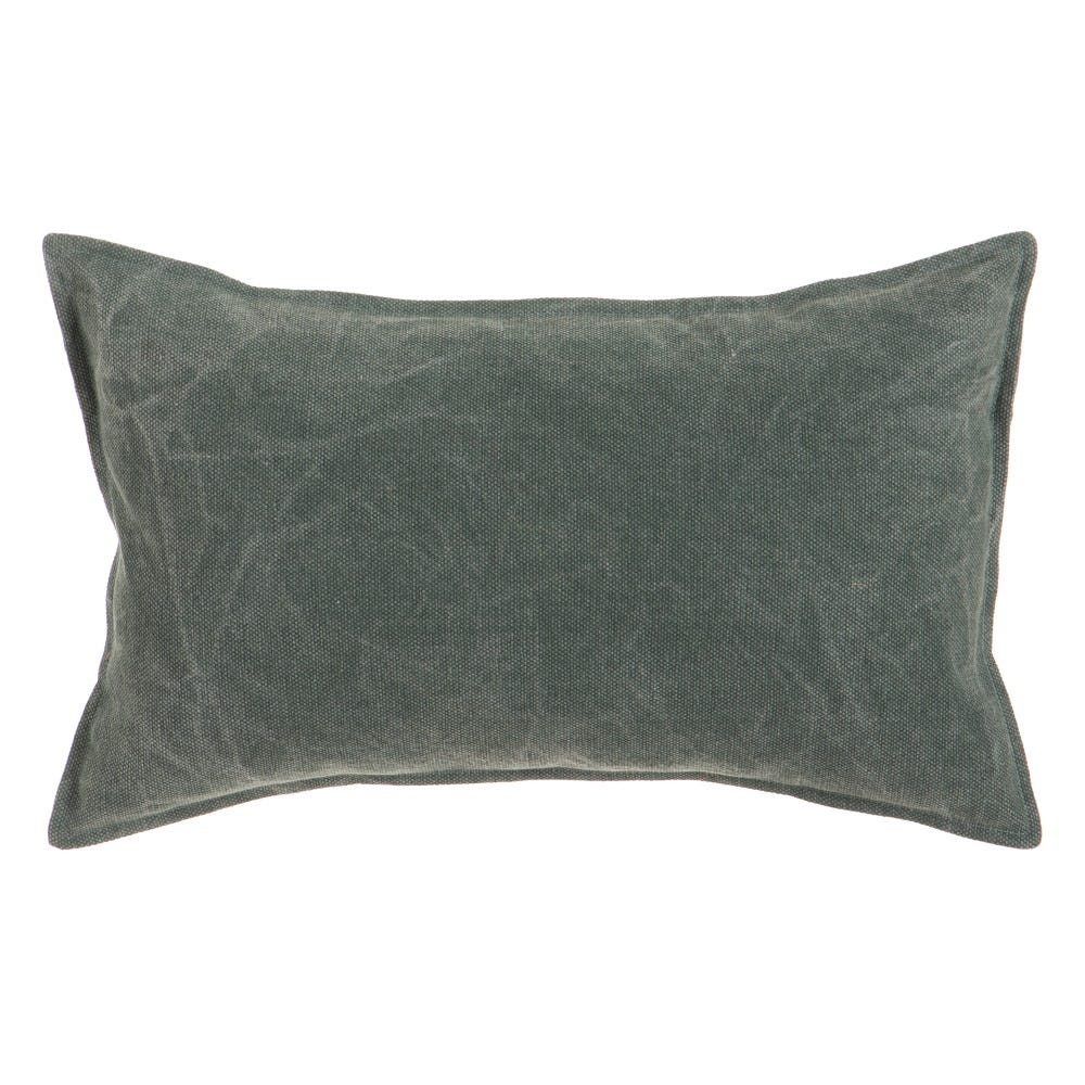 Perna decorativa cu husa din bumbac verde inchis Stylish L50cm imagine 2021 insignis.ro