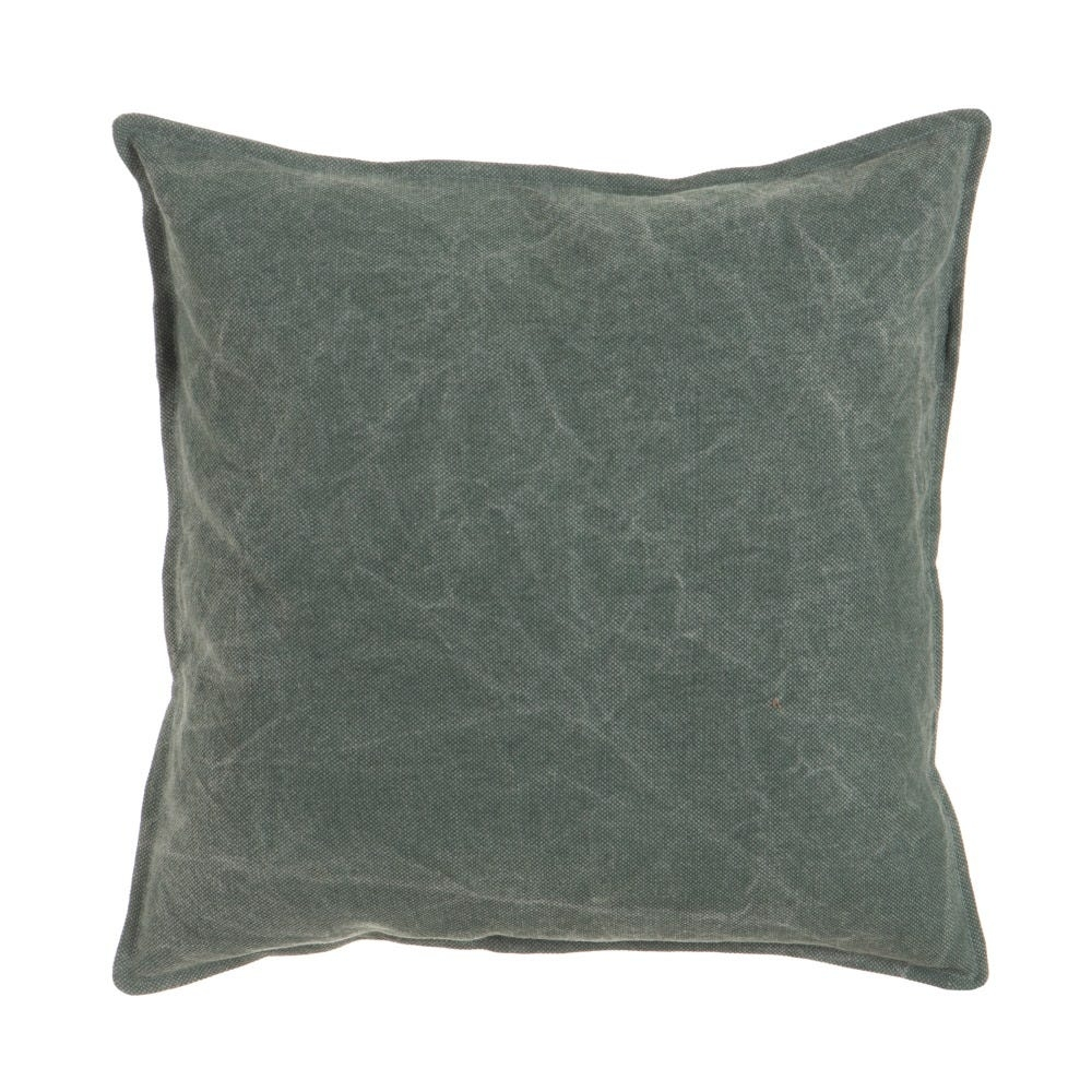 Perna decorativa cu husa din bumbac verde inchis Stylish L45cm imagine 2021 insignis.ro