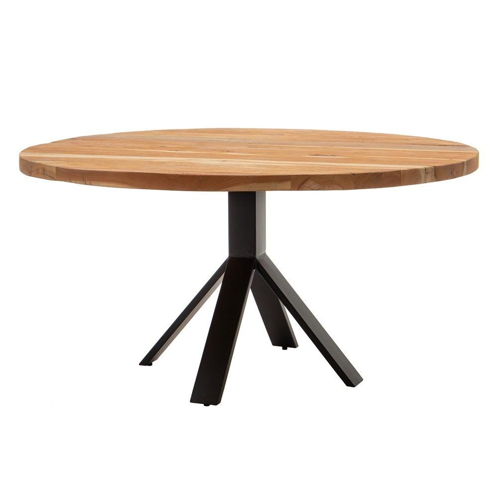 Masa rotunda cu blat din lemn de mango Comedor D150cm imagine 2021 insignis.ro