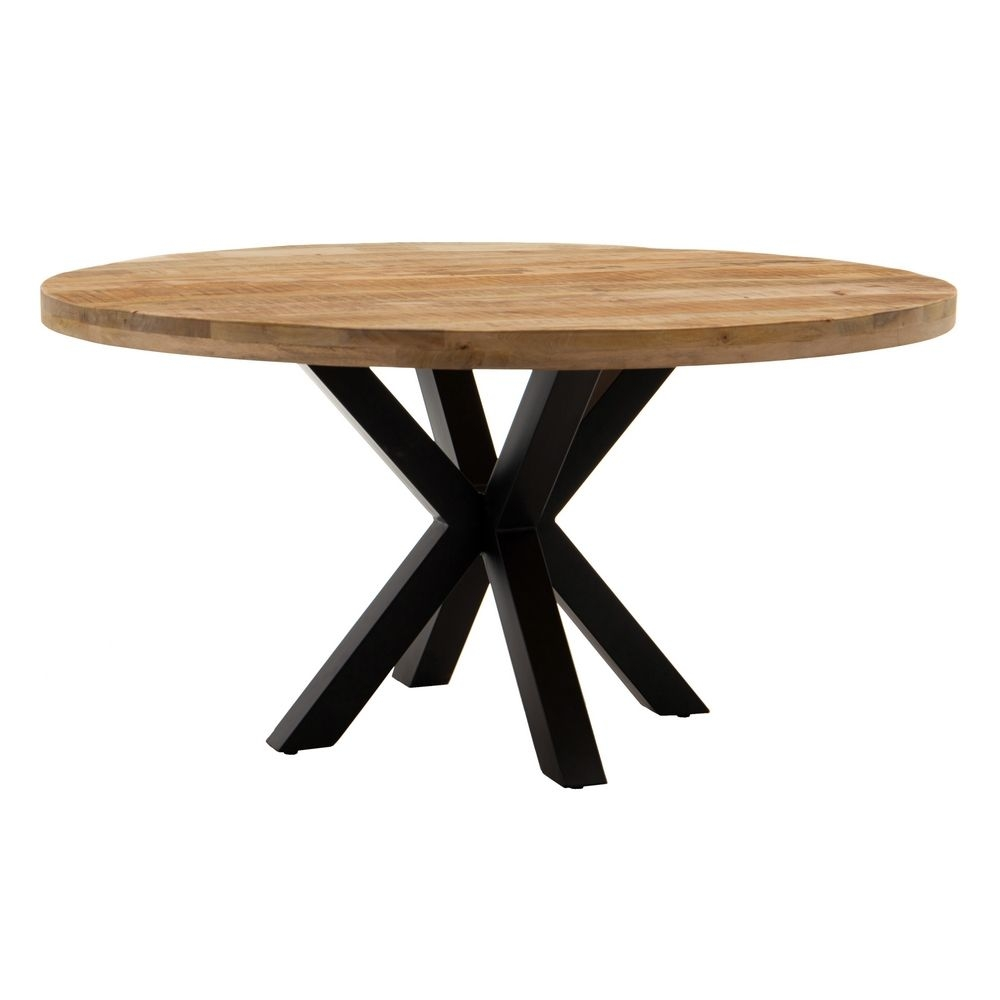 Masa rotunda cu blat din lemn de mango Star D150cm imagine 2021 insignis.ro