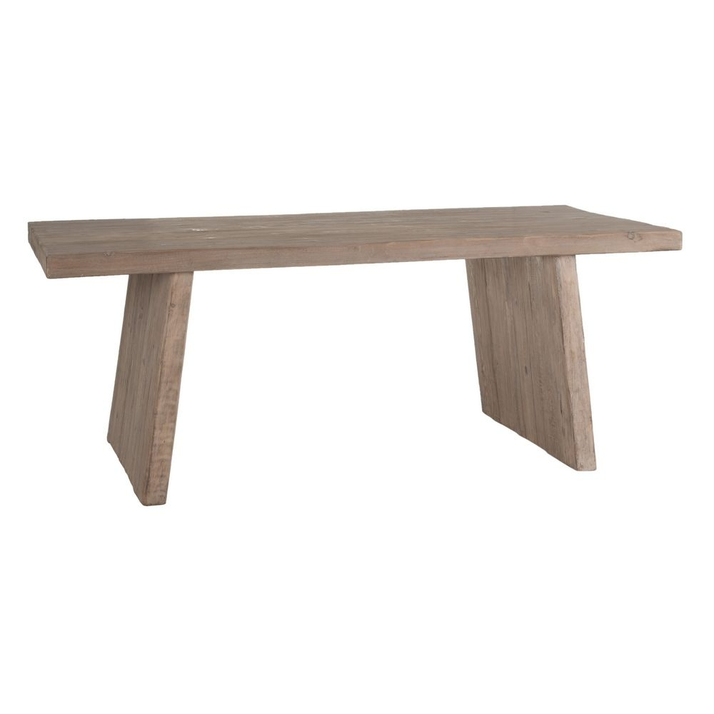Masa dreptunghiulara din lemn Rustic L200cm imagine 2021 insignis.ro