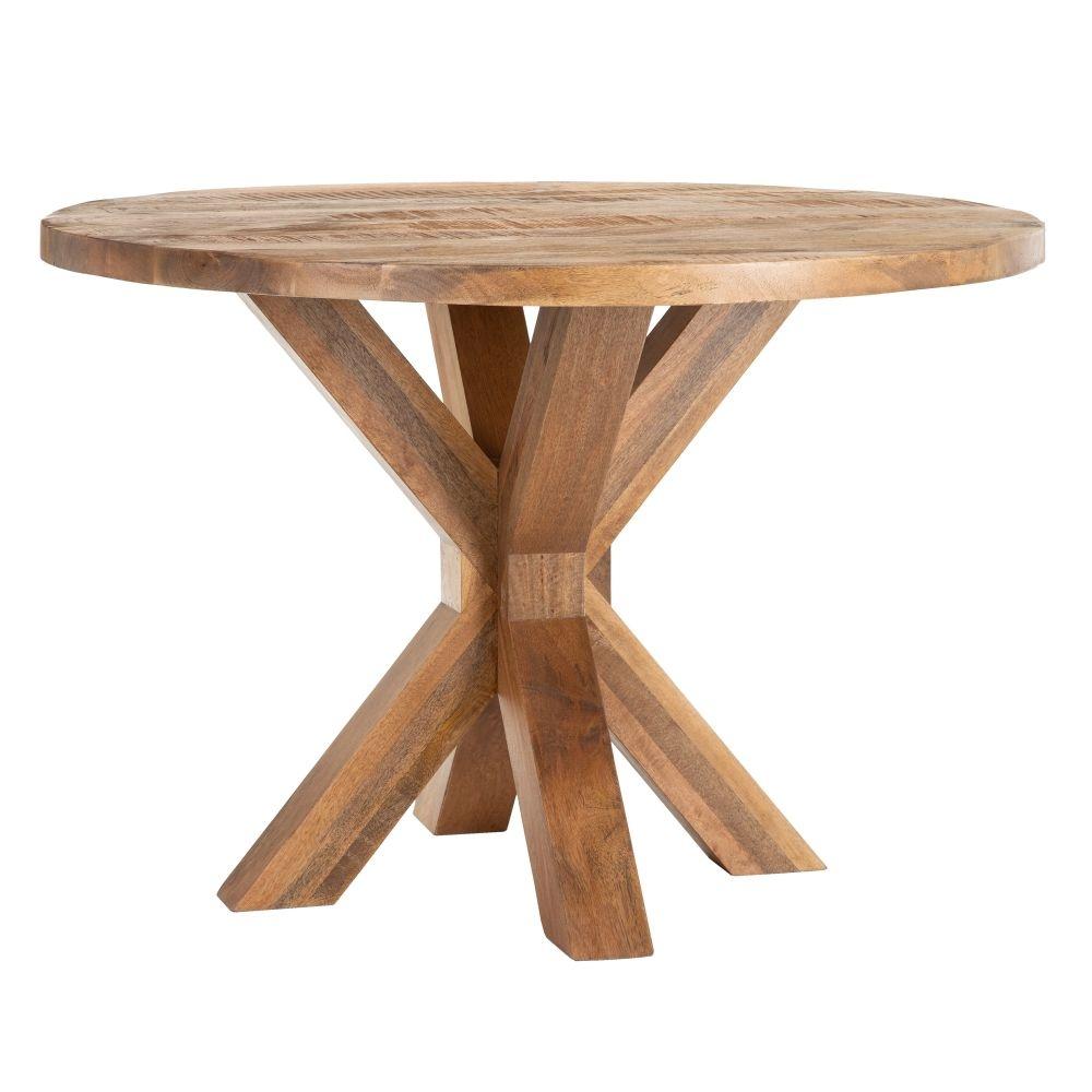 Masa rotunda din lemn de mango Goma D110cm imagine 2021 insignis.ro