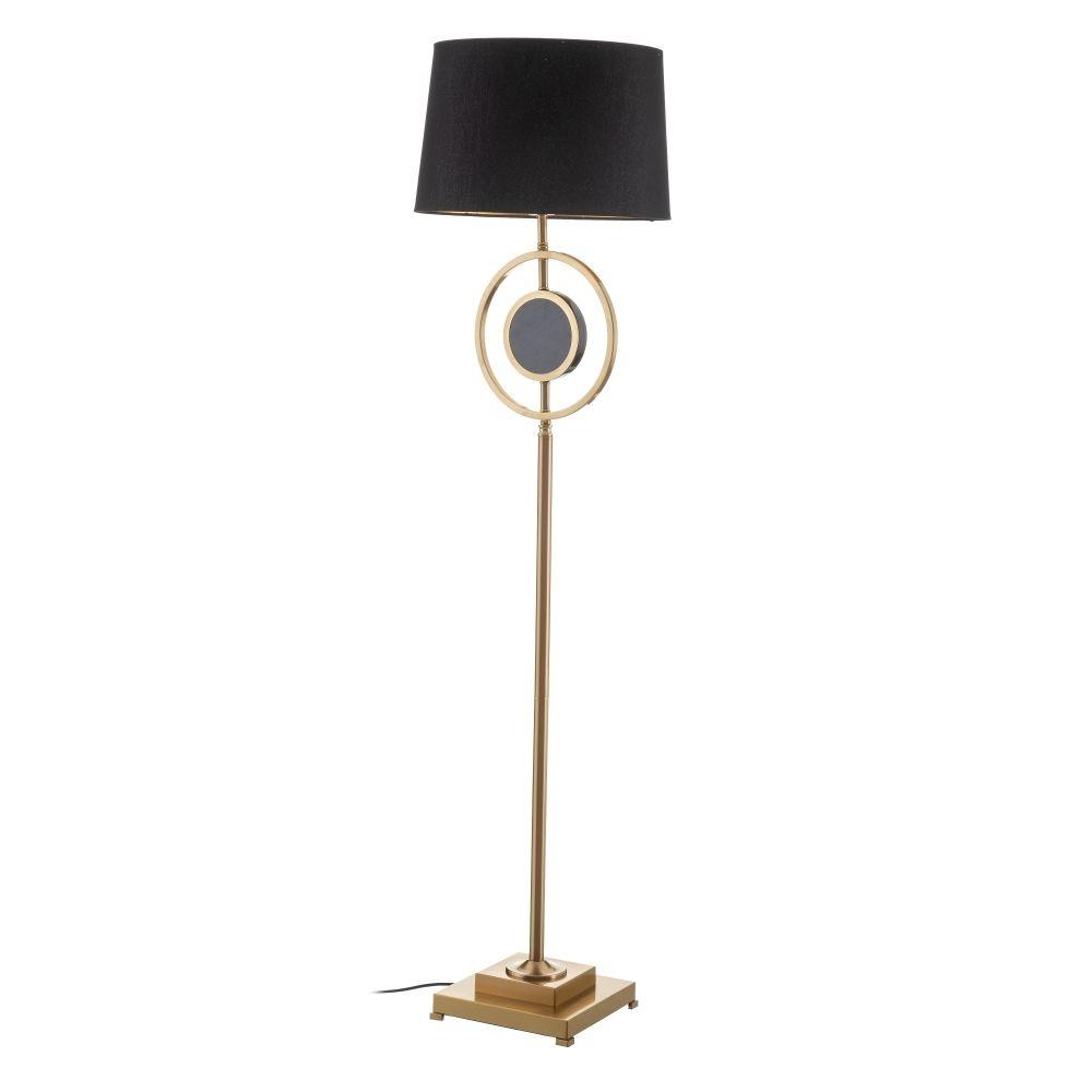 Lampadar de podea cu abajur negru 1x40W Cinta H160cm imagine 2021 insignis.ro