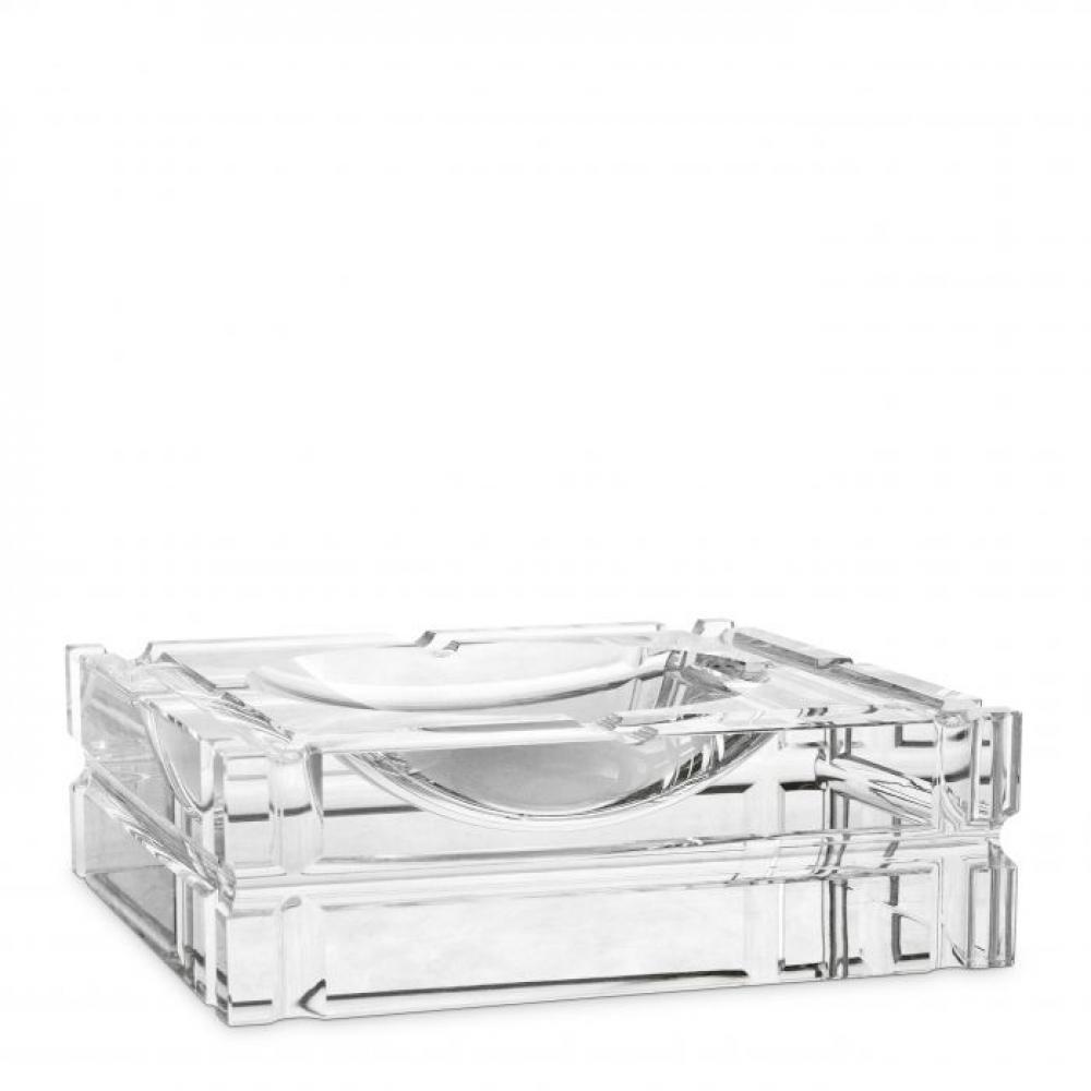 Scrumiera Eichholtz Nestor din cristal 21x21x6.7cm imagine 2021 insignis.ro