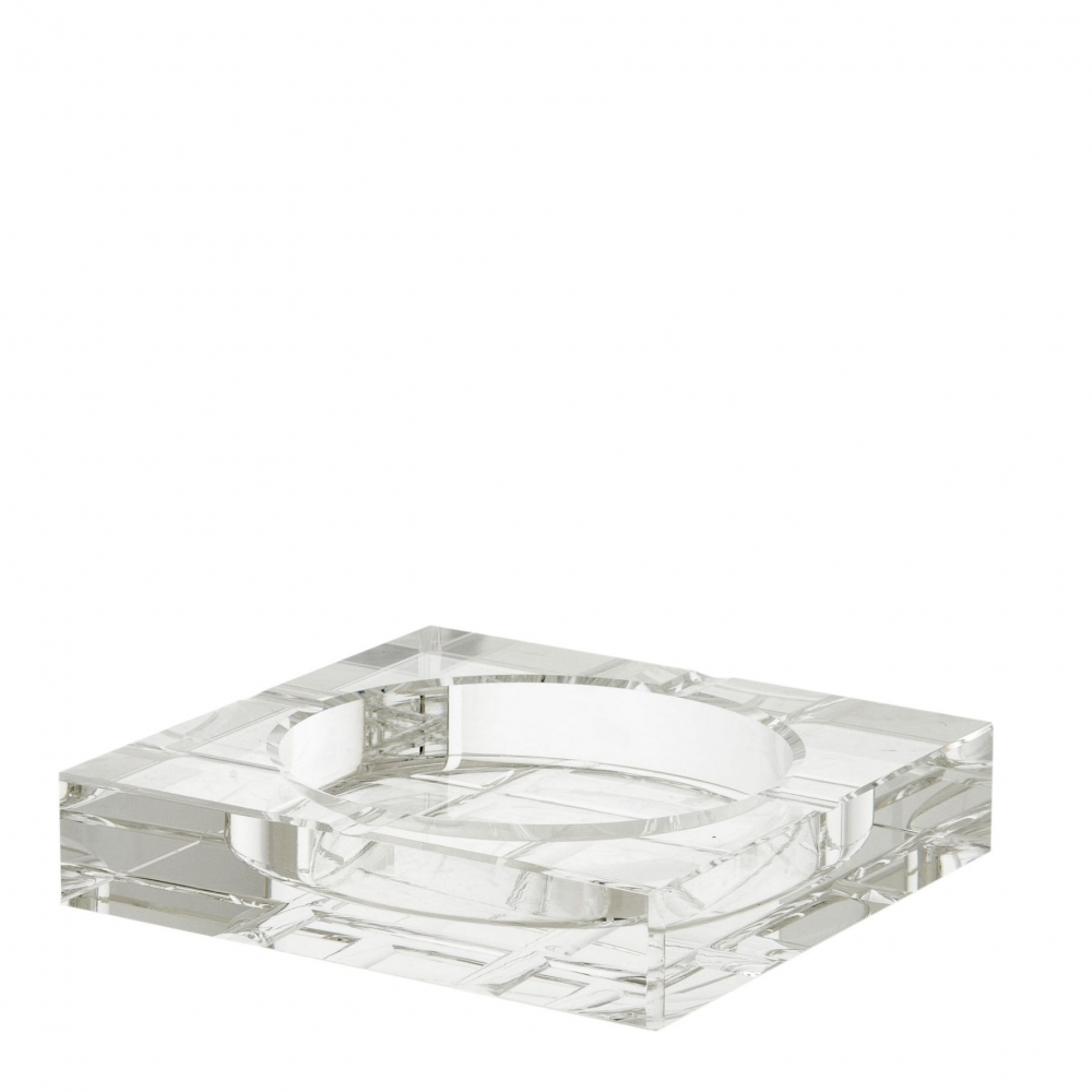 Scrumiera Eichholtz Ledbury din cristal 15x15x3cm imagine 2021 insignis.ro
