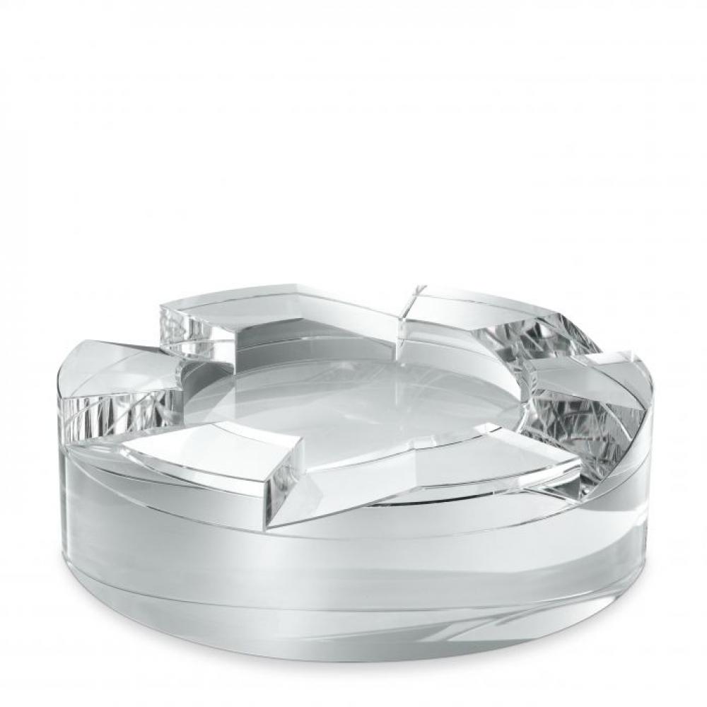Bol Eichholtz Avedon din sticla de cristal transparent 24x7cm imagine 2021 insignis.ro