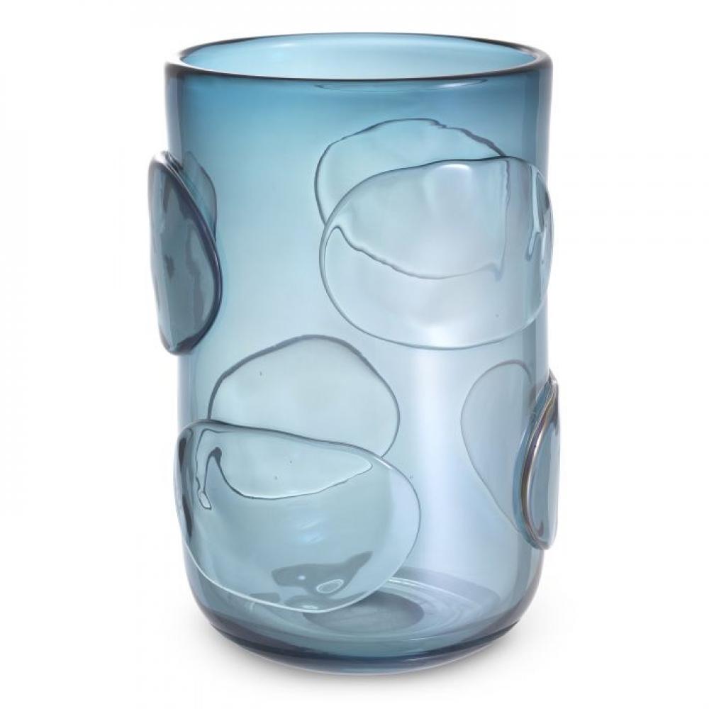 Vaza Eichholtz albastra Valerio L din sticla suflata manual 23x34cm imagine 2021 insignis.ro