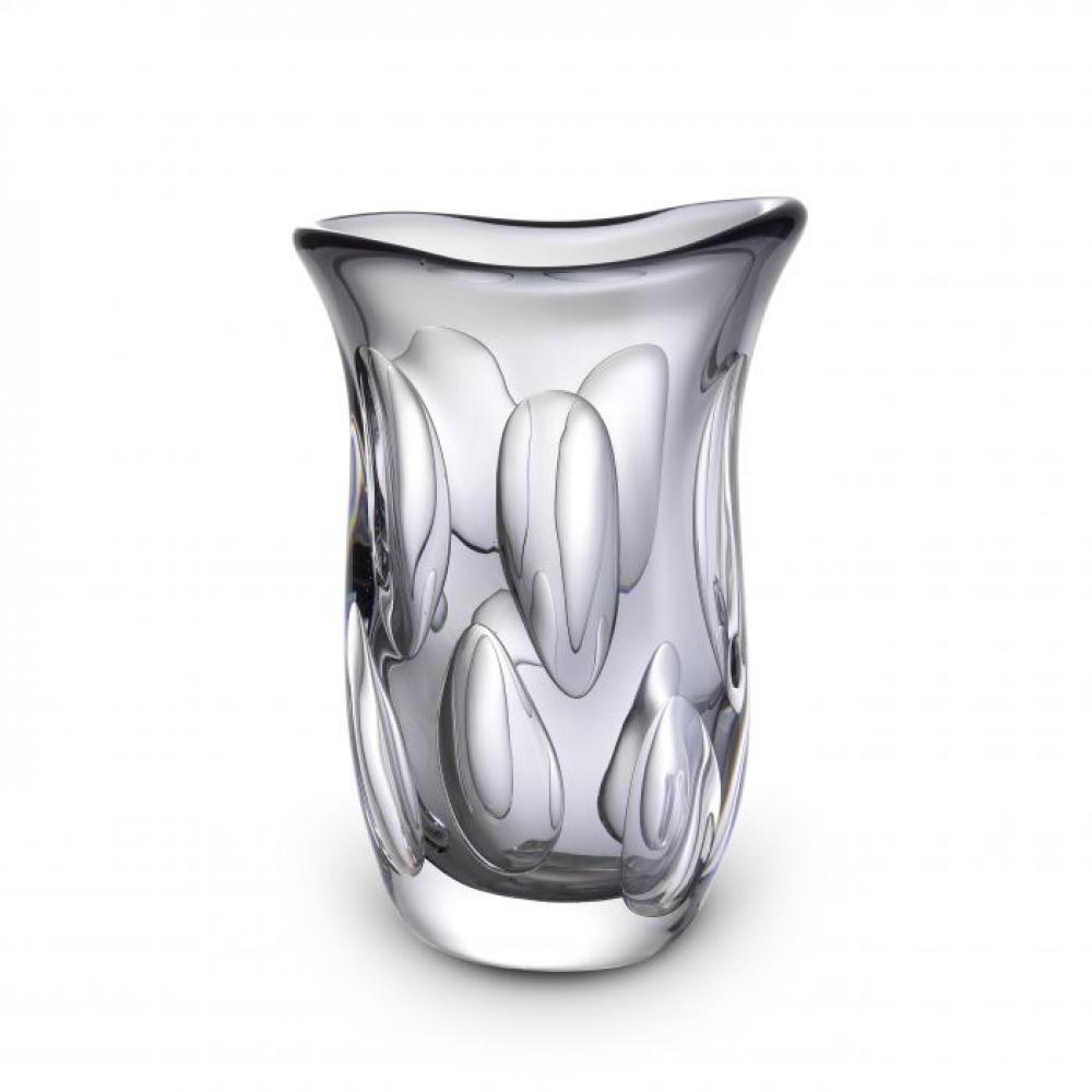 Vaza Eichholtz gri Matteo din sticla suflata manual 20x13x30cm imagine 2021 insignis.ro
