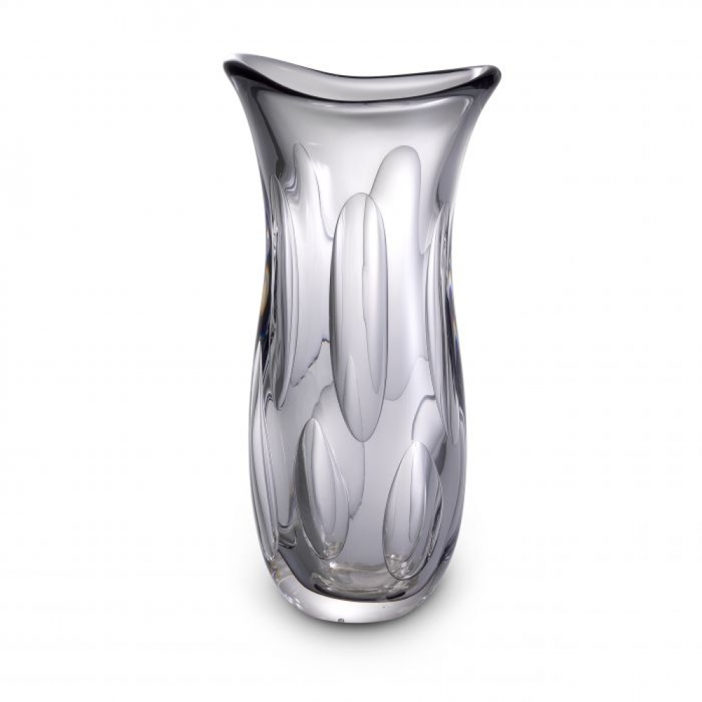 Vaza Eichholtz gri Matteo din sticla suflata manual 19x14x39cm imagine 2021 insignis.ro