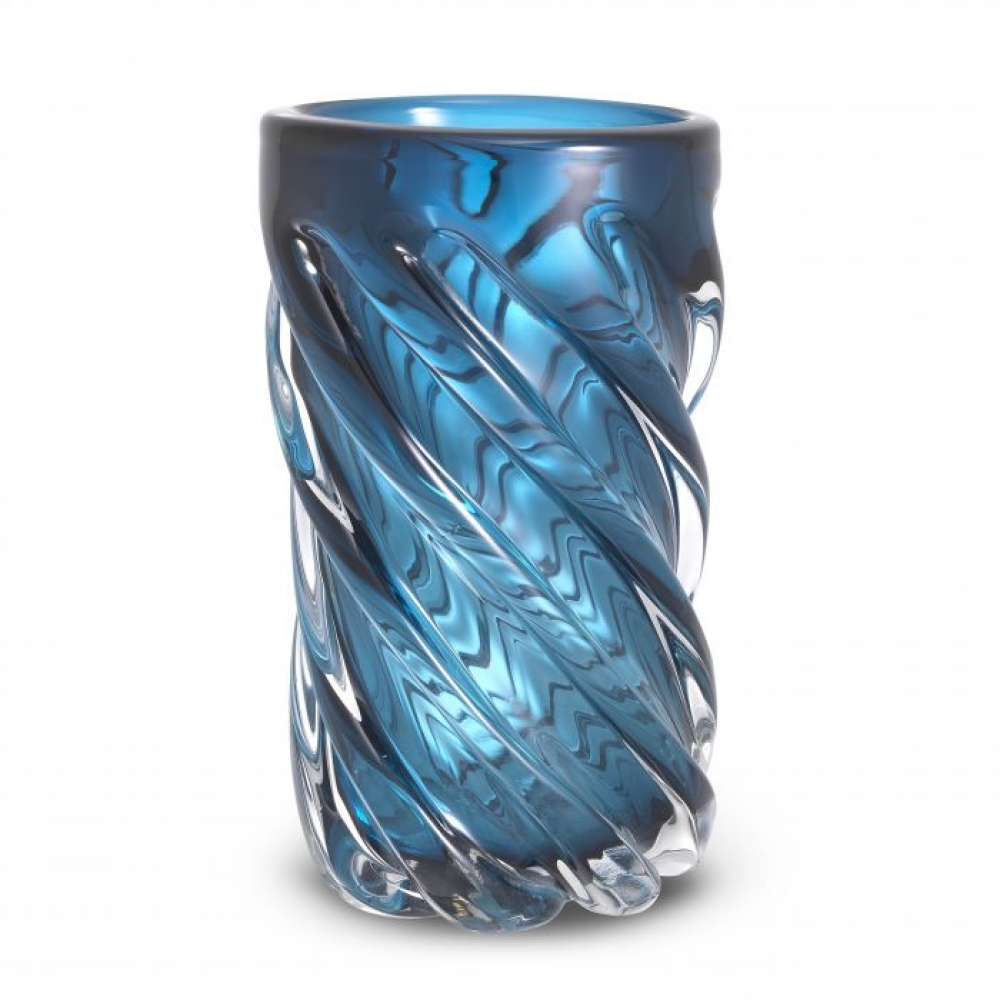 Vaza Eichholtz albastra Angelito L din sticla suflata manual 20x36cm imagine 2021 insignis.ro