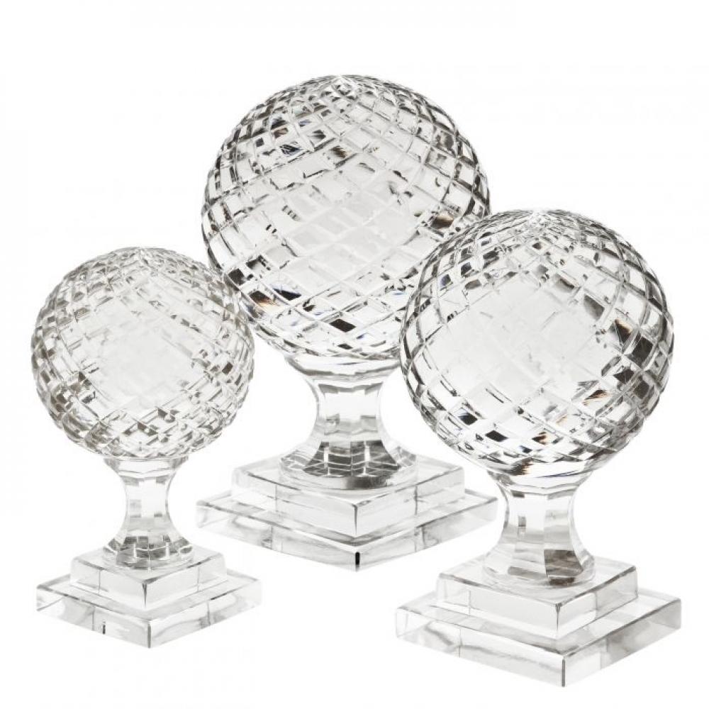 Set 3 piese Eichholtz Divani din sticla transparenta suflata manual imagine 2021 insignis.ro