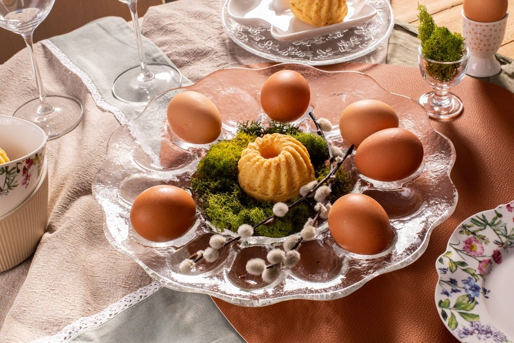 Platou servire pentru oua Freya D30cm imagine 2021 insignis.ro