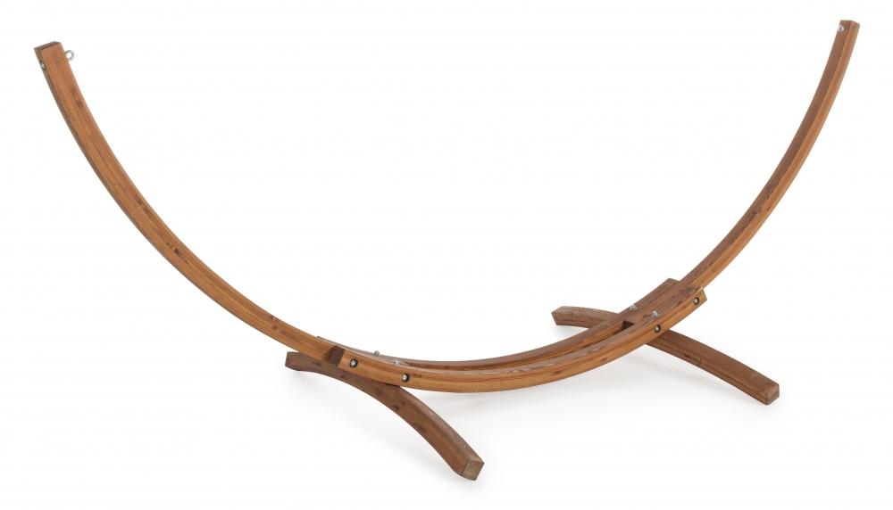Suport pentru hamac exterior din lemn cu structura din inox imagine 2021 insignis.ro