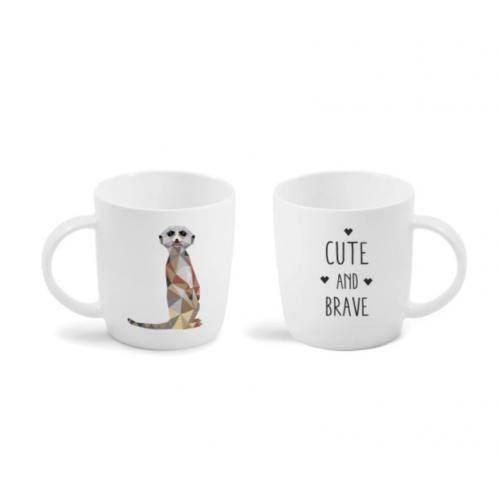 Set 2 cani de cafea Suricat Nature