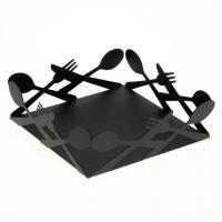 Suport de servetele negru metalic